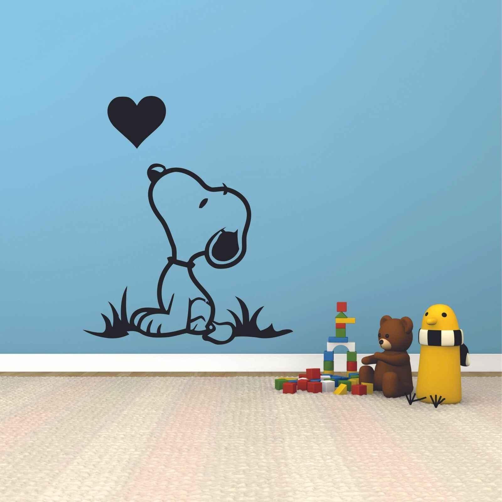 Snoopy Wall Decals Heart Kiss Cartoon
