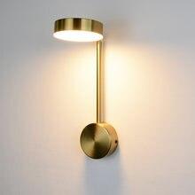 Минималистичное внутреннее освещение настенные лампы с золотым