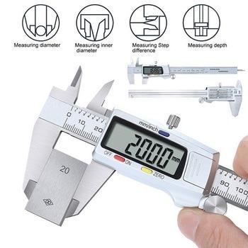 Digital Caliper Stainless Steel Electronic Digital Vernier Calipers 6Inch 0-150mm Metal Micrometer M