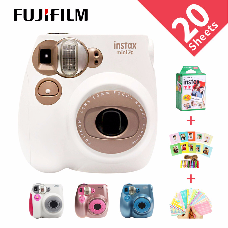 New Genuine Fujifilm Instax Mini 7C 7S Camera 6 Colors On Sale White Pink Blue Instant Printing Photo Film Snapshot Shooting image