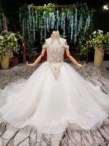 Image 3 - 2019 nouveau Bling Bling fleur fille Dresse pour fête de mariage filles Pageant robes cristlas première Communion robes pour petite fille