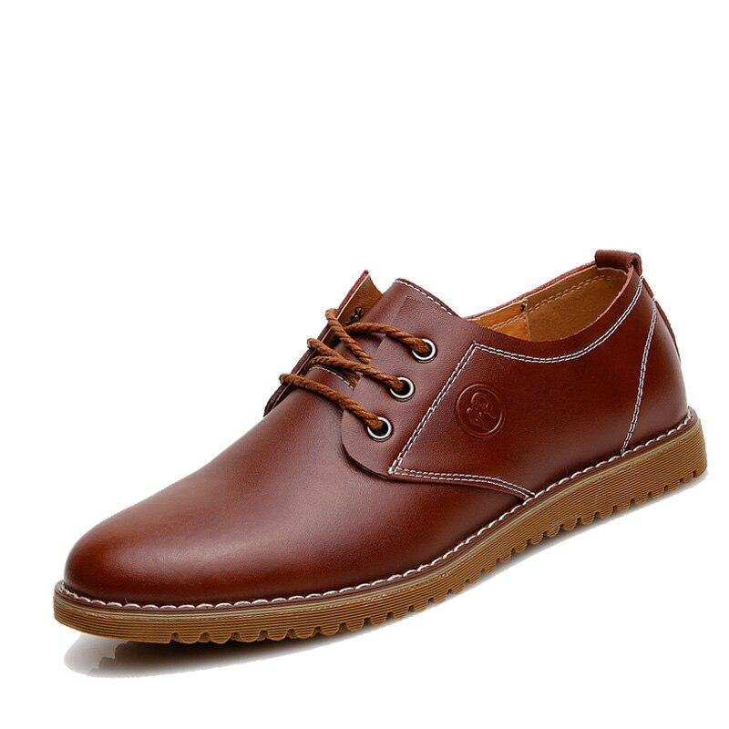 2016 Luxury Brand Men Loafers Leather Men Shoes Brogues, Lace-Up Bullock Business Men Oxfords Shoes Men Dress Shoes Size 38-46