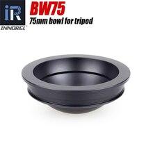 INNOREL BW75 75mm Bowl for Tripod Half Ball Aluminum Alloy Tripod Bowl Adapter for Video Fluid Head Tripod