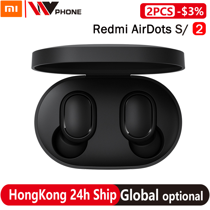 Xiaomi Redmi Airdots S TWS Wireless Stereo Earphone airdots 2 Bluetooth 5 0 Noise Reduction With Mic Earbuds AI Voice Control