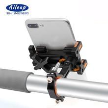 Aluminium Bike Phone Mount Bicycle Motorcycle Handlebar Phone Holder 360 Degree Adjustable for iPhone Samsung Huawei Xiaomi