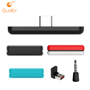 GuliKit NS07 Route Air Wireless Bluetooth Adapter Audio USB-C Transmitter with Microphone for the Nintend Switch/Lite PS4 PC gulikit ns07 usb c route air bluetooth wireless audio adapter or type c transmitter for the nintendo switch switch lite ps4 pc