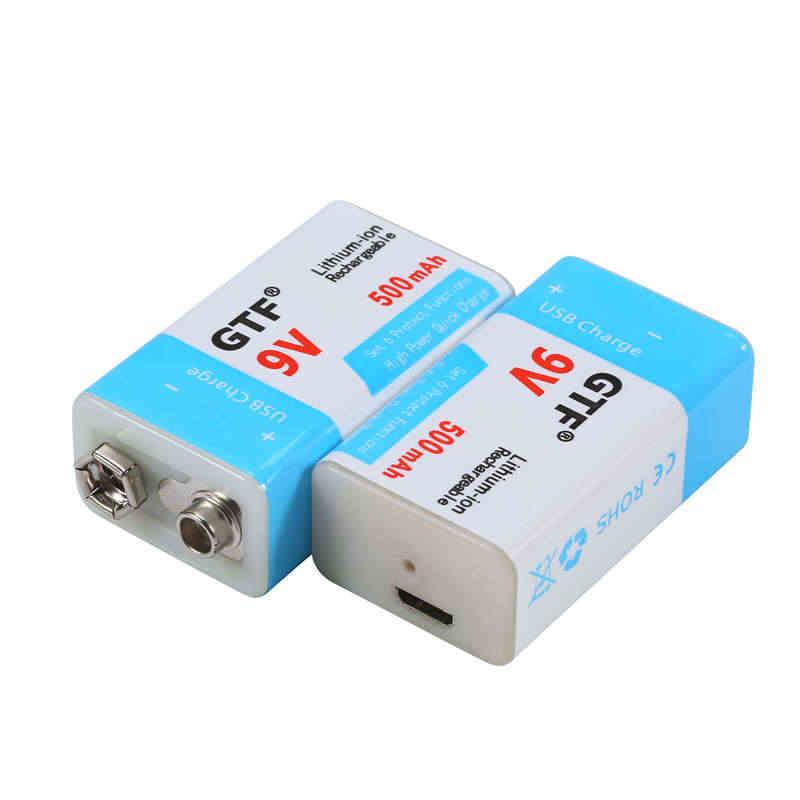 Gtf usb バッテリー 9 v 1000/500 リチウムイオン二次電池 usb リチウム電池のおもちゃリモートコントロールドロップ無料