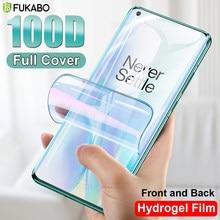 Protector de pantalla 100D para Oneplus 8 Pro 8T, película protectora para 7T 6T 6 7 Pro, cubierta completa frontal y trasera de Hidrogel, no cristal