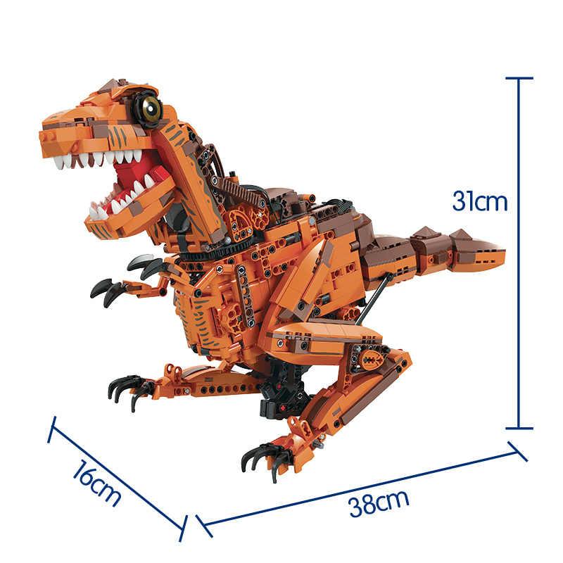 ERBO 1092PCS Technic Electric RC Tyrannosaurus Building Blocks City Jurassic World ไดโนเสาร์อิฐของเล่นสำหรับของขวัญเด็ก
