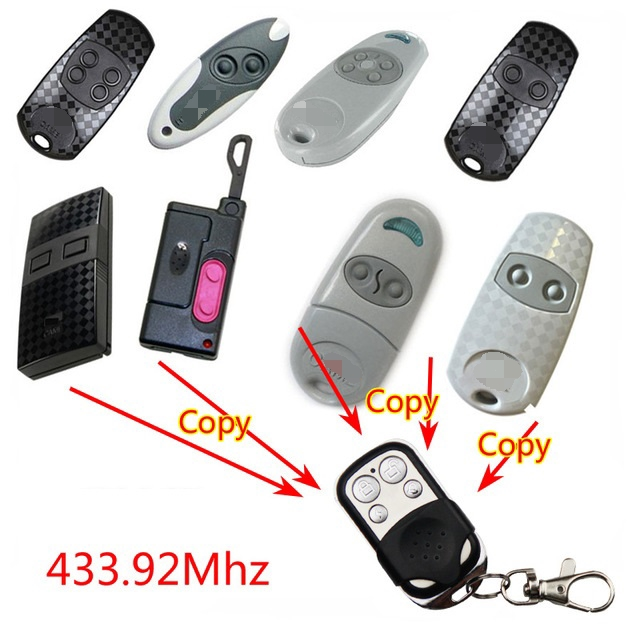 High Quality 433.92Mhz Duplicator Copy Came Remote Control CAME TOP432NA TOP432EV 432EE Garage Door Remote Control With Battery