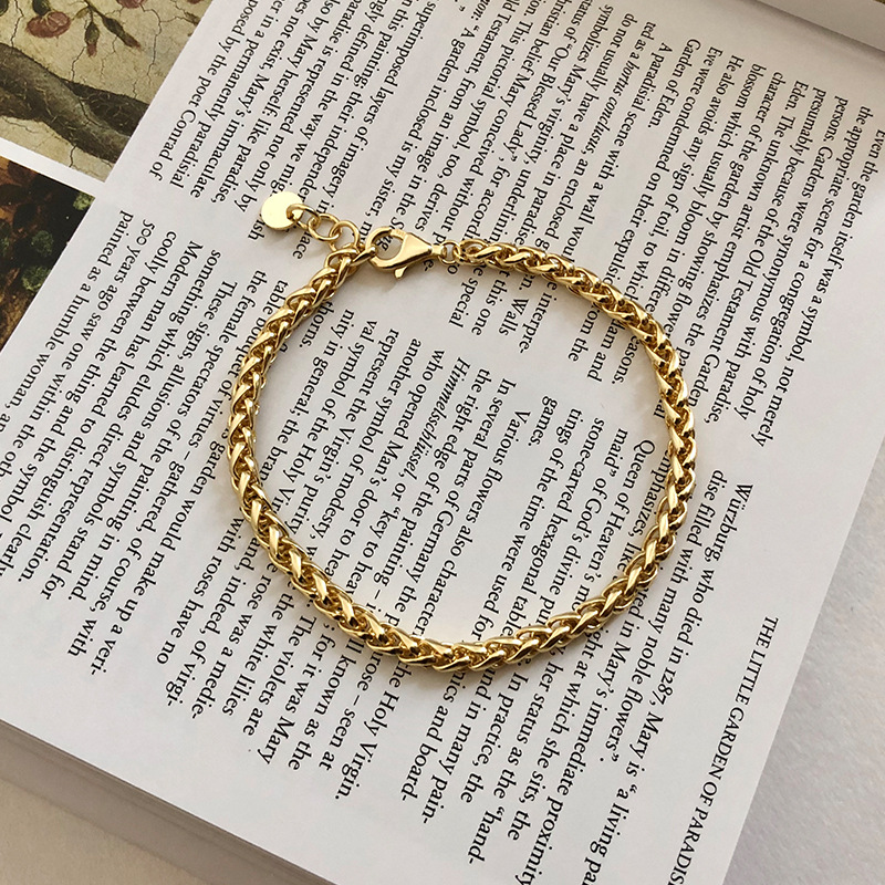 Silvology 925 Sterling Silver Thick Chain Bracelets 18K Gold Minimalist High Quality Wide Chain Womens Bracelets Party Jewelry