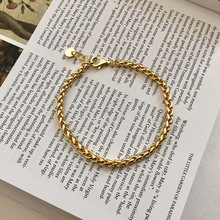 Silvology 925 Sterling Silver Thick Chain Bracelets 18K Gold