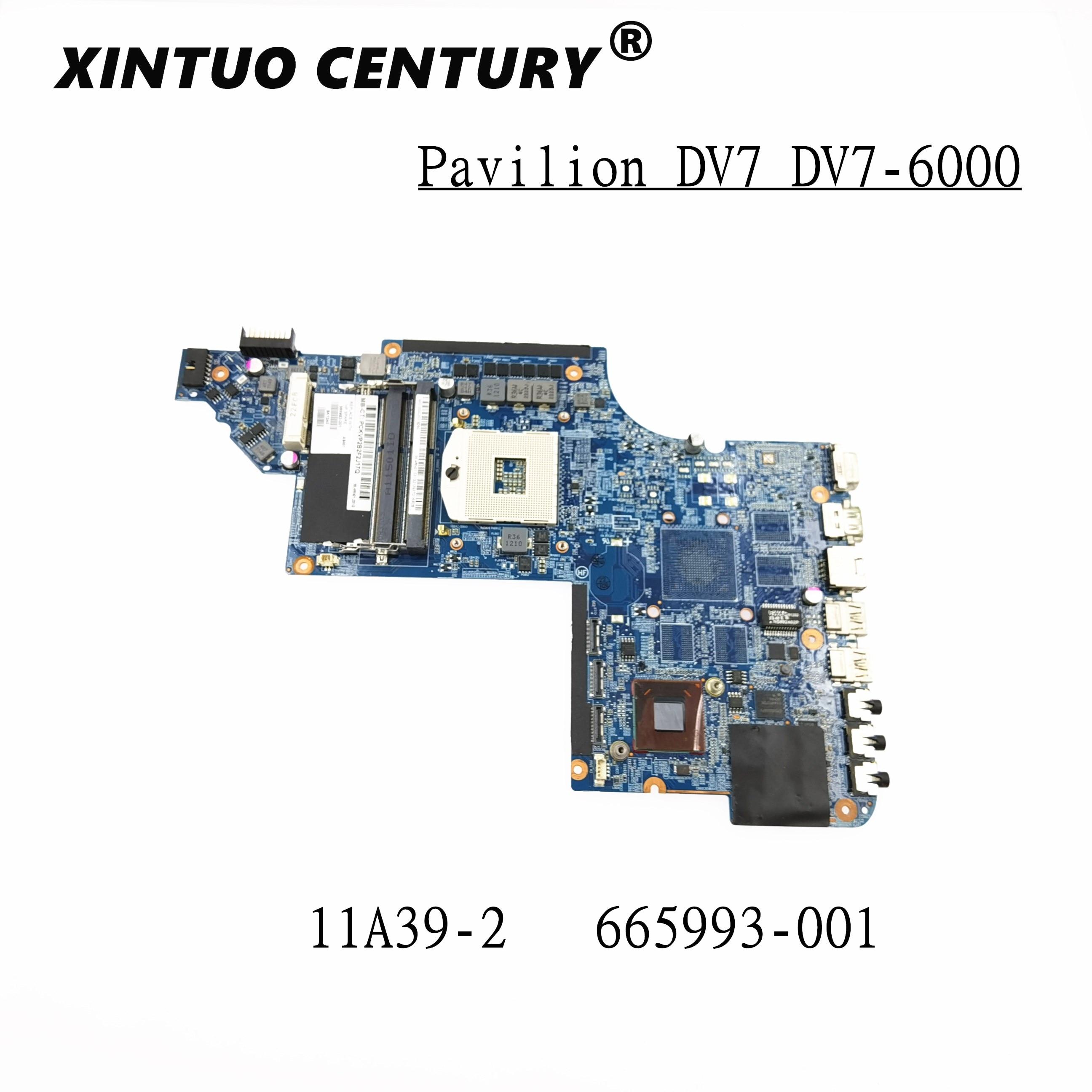Для струйного принтера HP Pavilion DV7-6000 DV7-6B DV7-6C серии DV7T-6C00 Материнская плата ноутбука 665993-001 аккумулятор большой емкости HM65 ddr3 UMA протестированы