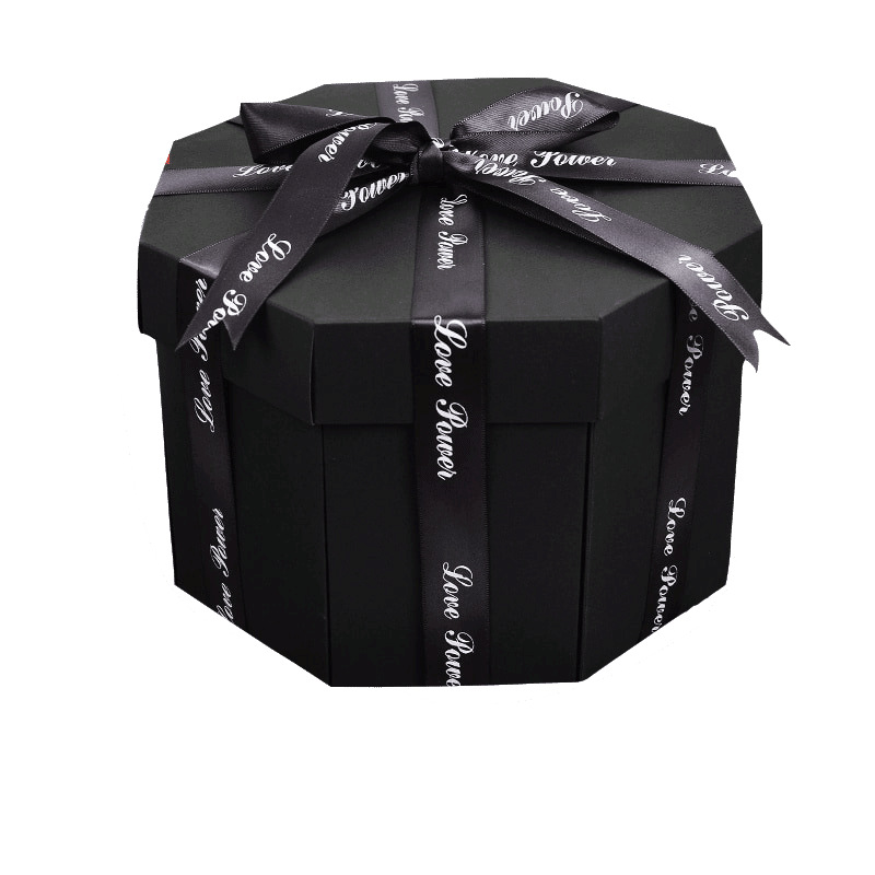 012 Surprise Gift Valentine 39 s Day Party Wedding Flower Gift Box Polygon Gift Box in Gift Bags amp Wrapping Supplies from Home amp Garden