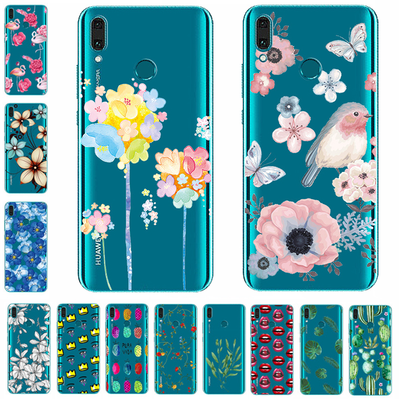 Soft Silicon Phone Case For <font><b>Huawei</b></font> P8 P9 lite P30 Pro P9 Plus Y3 Y5 <font><b>2017</b></font> Y5 Y6 2018 Y6 II Pro <font><b>Y7</b></font> Y9 2019 Bags Cover Soft <font><b>Fundas</b></font> image
