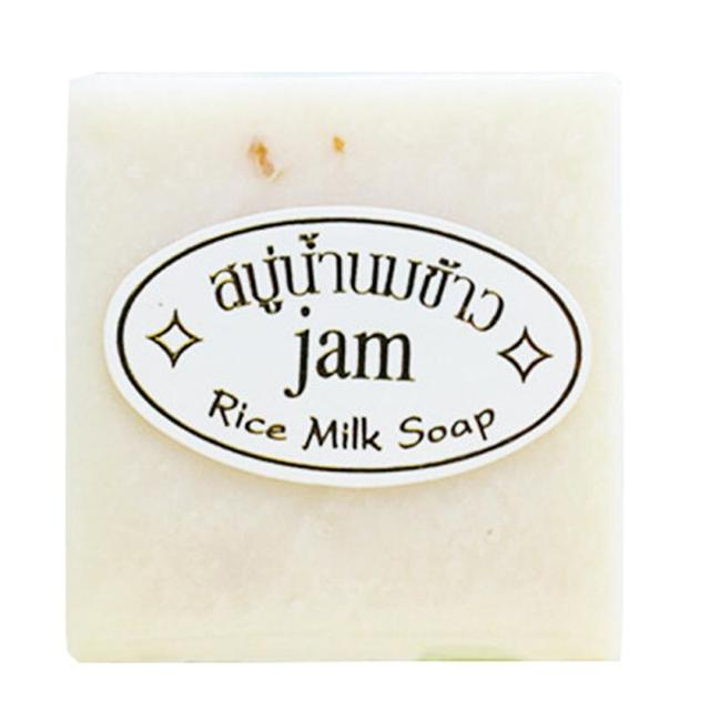 JAM Handmade 60g Rice Milk Soap Whitening Moisturizing Brighten Skin Wash Face Body Deep Cleaning Soap Natural Non-Stimulating 1