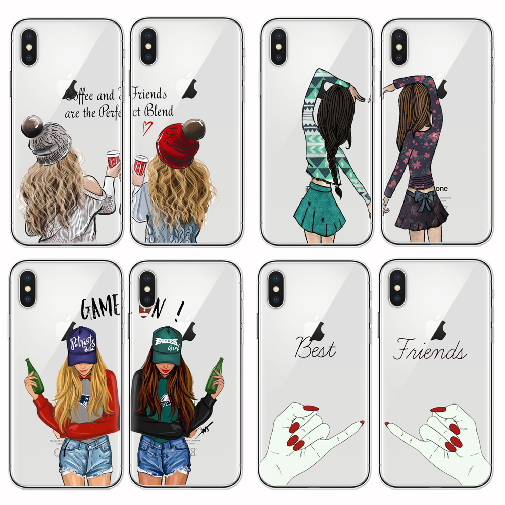 Best Friends Case For Iphone 6 6s 7 8 Plus You Are My Person Soft Tpu Silicone Case For Apple Iphone X Xr Xs Max 5s Se Fitted Cases Aliexpress