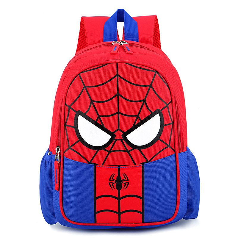 New Style Cartoon Spider-Man Backpack Boy Girl  Kindergarten Nursery School Bag Back To School Bag Wholesale