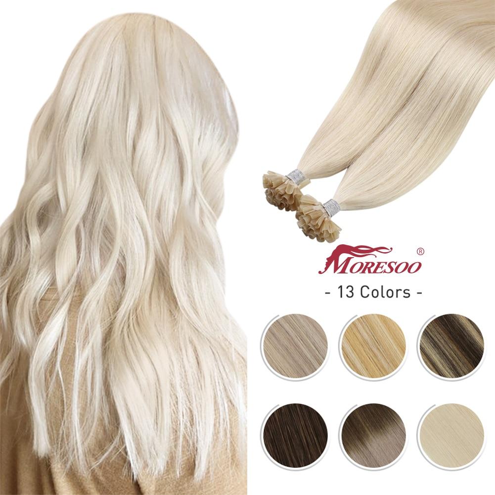 U tip Hair extensions 14-24 inch Machine Remy Human Pre-bonded Hair 1g/s Brazilian Natural Hair Nail tips Keratin Fusion
