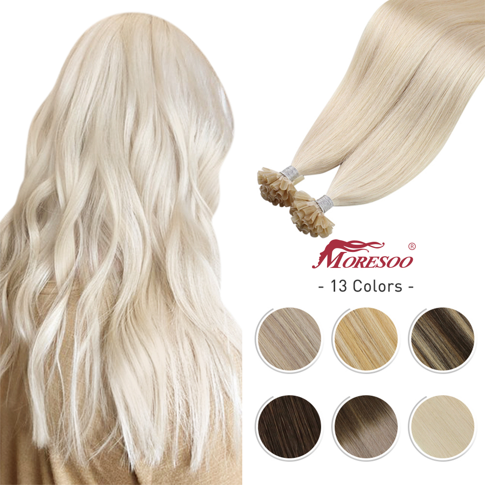 U tip Hair extensions 14-22 inch Machine Remy Human Pre-bonded Hair 1g/s Brazilian Natural Hair Nail tips Keratin Fusion