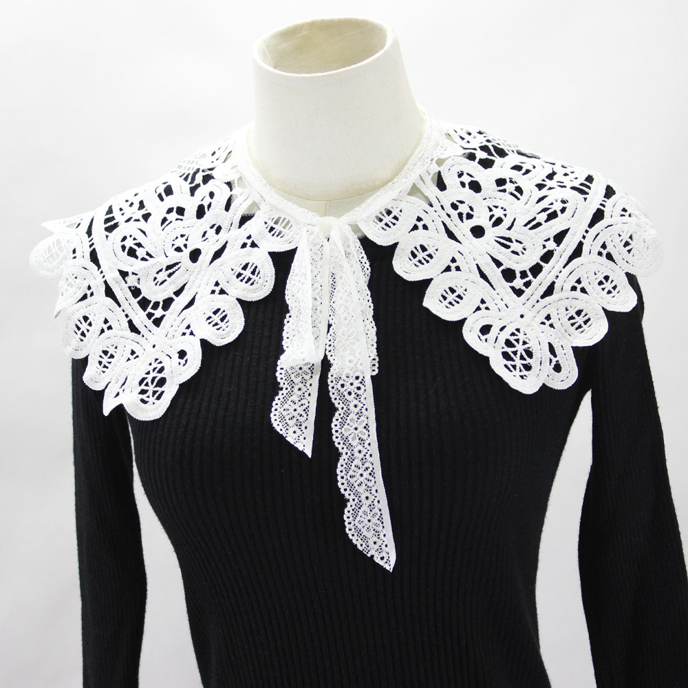 Hollow Out Flower Dickie Shawl Decoration Lead Detachable Fake Collar Necklace Shirt Women New Free Shipping Wholesale