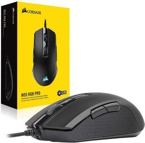 CORSAIR M55 RGB PRO Ambidextrous мультизахватная игровая мышь, светодиодный RGB с подсветкой, 12400 DPI, оптическая (версия CN)