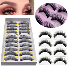 False-Eyelashes Makeup-Tool Voluminous for Crisscross 30pair/Lot
