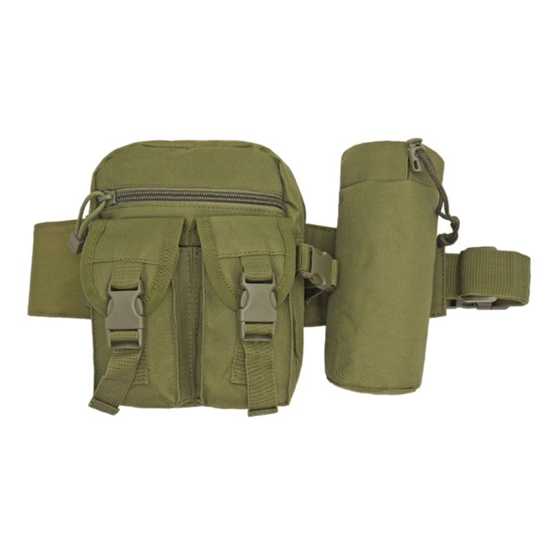 Multifunctional Outdoor Hiking Fanny Pack, Travel Hiking Hiking Hiking Waist Pack, Kettle Storage Bag,Army Green
