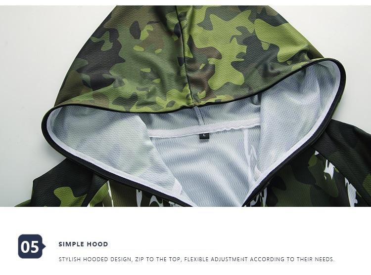 Nova primavera roupas de pesca masculina antiuv
