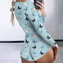 Butterfly Onesie Female Homewear Onesie Pajamas for Adults Jumpsuit Sleep Butter