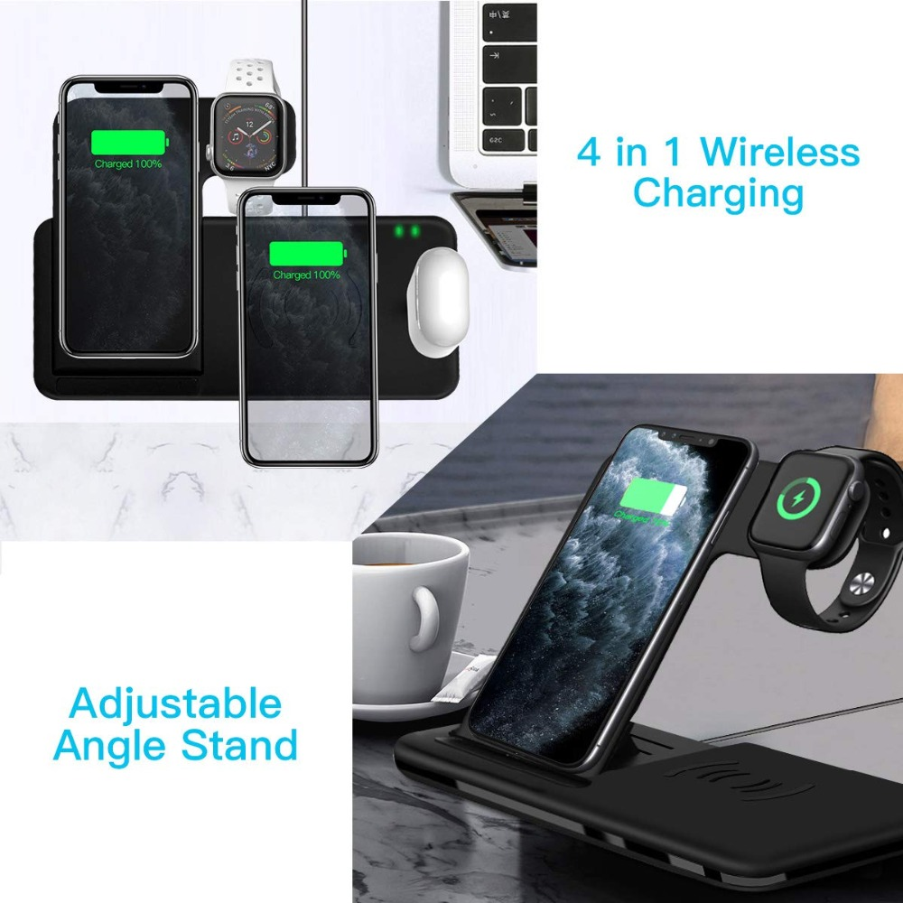 Hbf62a256e2254878a8116ed3bc1377f6t Fast Wireless Charger Stand For iPhone  & Apple Watch Dock Station