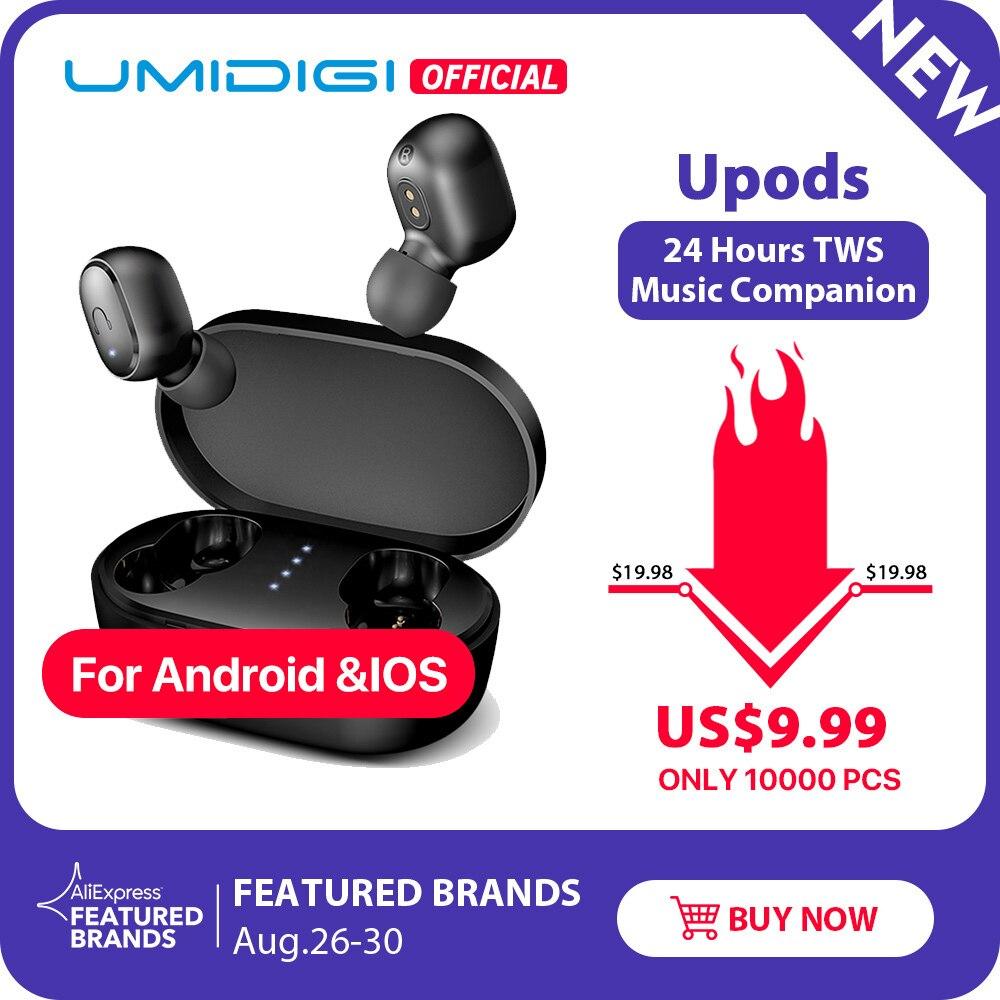 UMIDIGI Wireless Earphone Charging-Box Noice-Reduction Auto-Pairing Tws Bluetooth