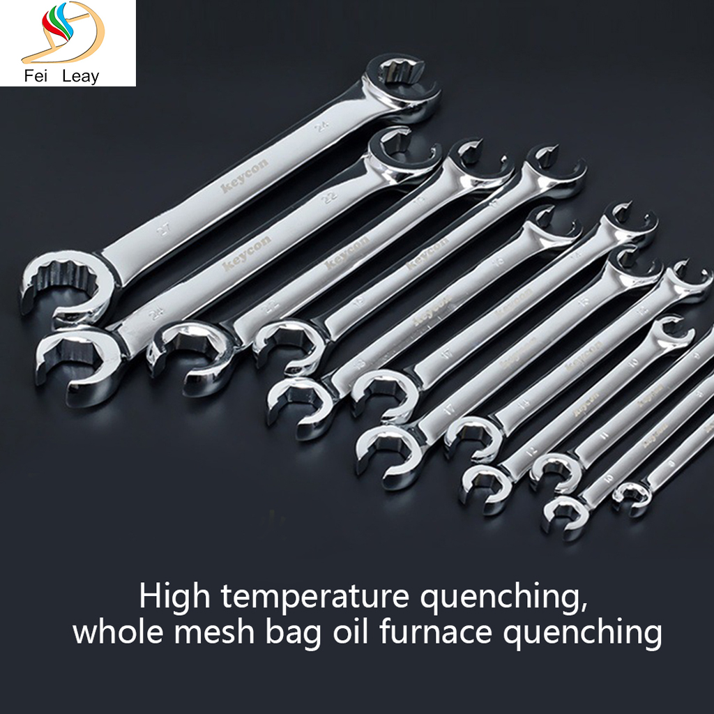 14x17mm Nut Spanner Brake Wrench For Car Repair Hand Tools Tubing Wrench Double Head Opening Wrench Crow's-Foot Spanner Set