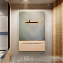 Affiches et imprimés de bateau doré, peinture sur toile d'art mural, décoration de la maison, sans cadre