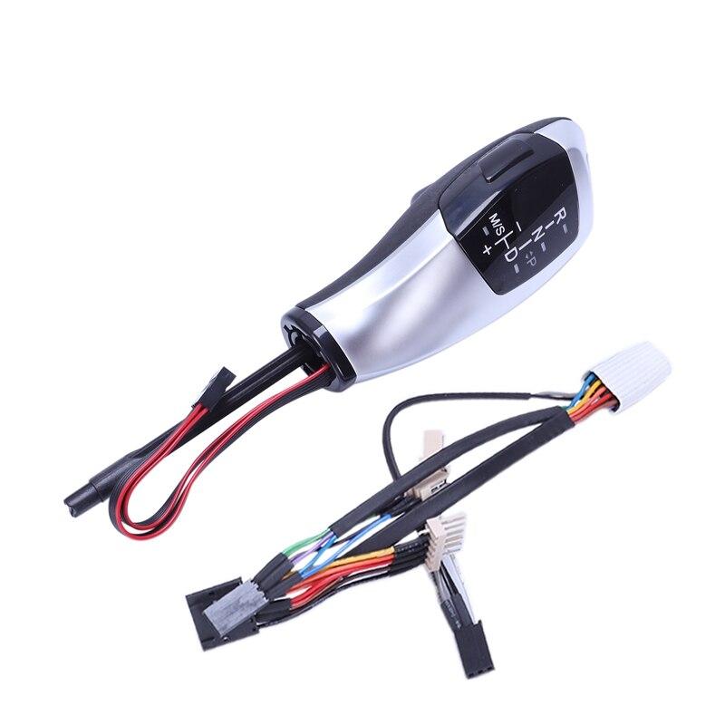Voiture cuir Lhd automatique Led pommeau de levier de vitesse poignée pommeau de vitesse levier de manette de vitesse pour E46 E60 E61 E63 E64