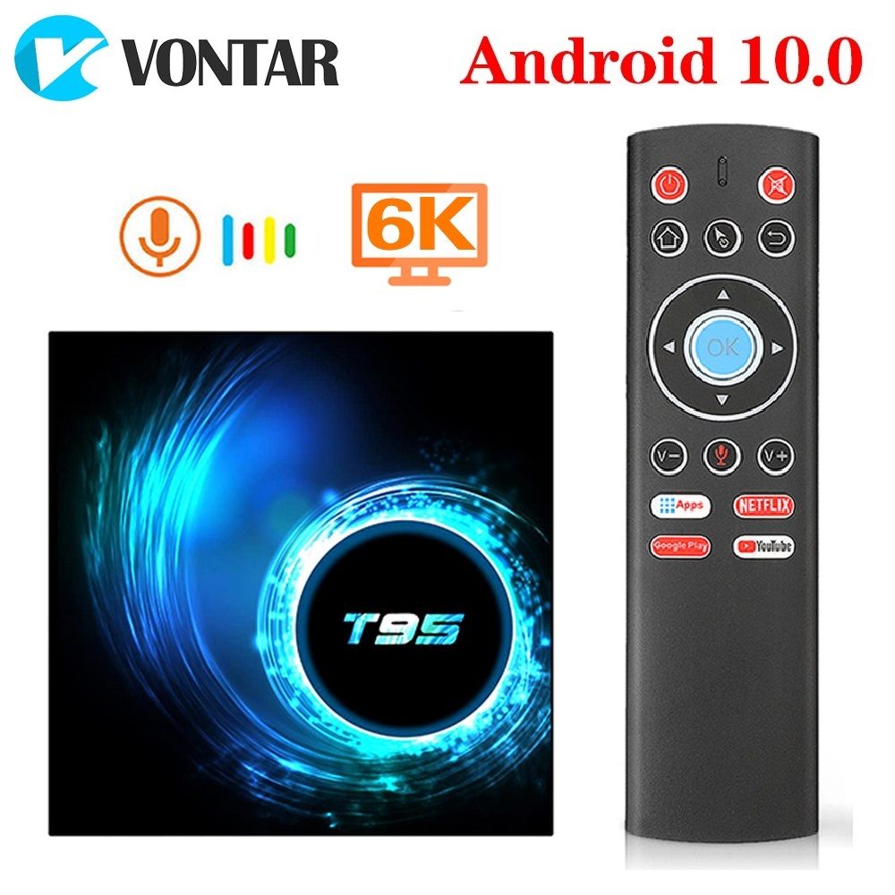 T95 Smart TV Box Android 10 4GB 64GB Allwinner H616 Quad Core 6K H.265 2.4G Wifi Google Player Youtube Media player Android 10.0