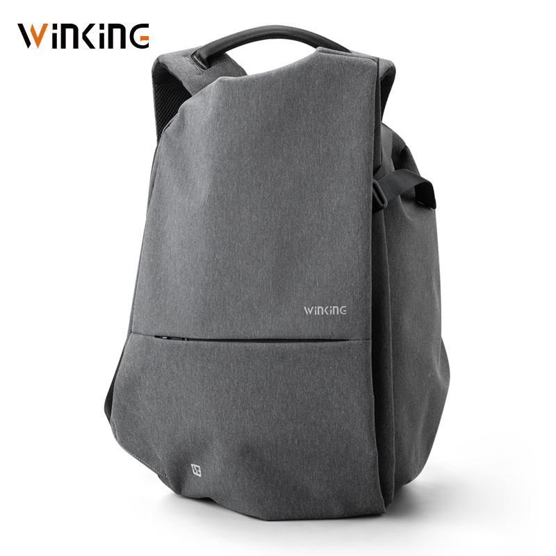 Kingsons New Multifunction USB Charging Men 15inch Laptop Backpacks For Teenager Fashion Male Mochila Travel Backpack Anti Thief