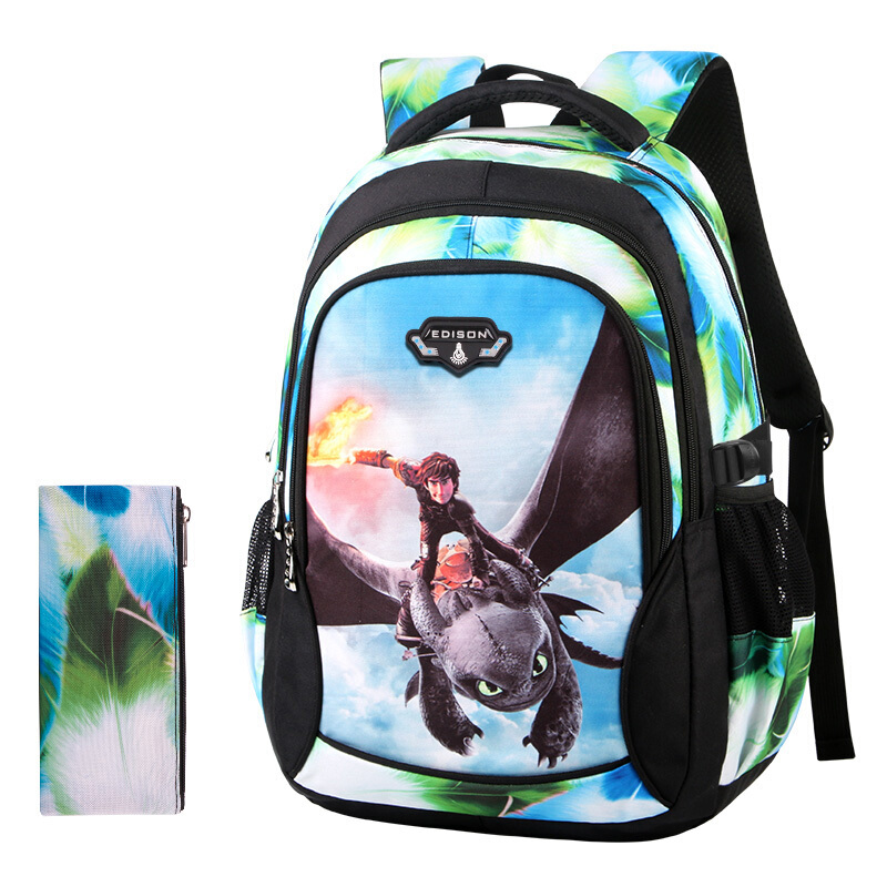 Edison New School Bag Children Backpack Boy Girl School Backpack Miracle Series Cartoon Student Bag 3D Printing Offload Backpack 6