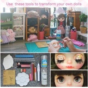 Image 5 - Neo Blyth Doll NBL özelleştirilmiş parlak yüz, 1/6 BJD topu eklemli bebek Ob24 bebek blythe Doll kız için, oyuncaklar çocuklar için NBL01
