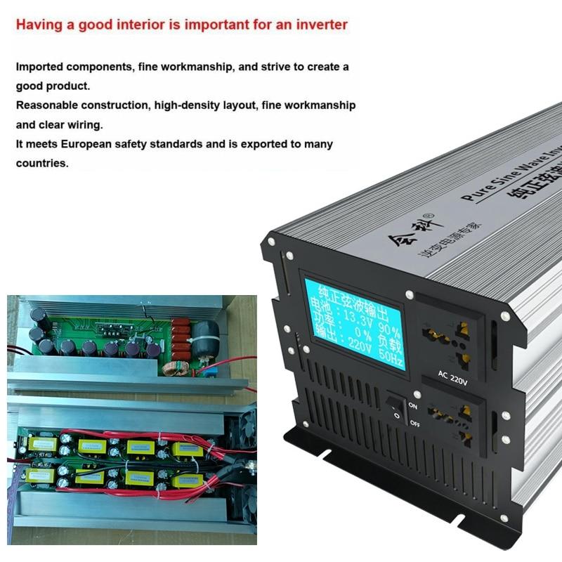 2500W//5000W 12//24V//48V//60V//72V to 110V LCD Display Pure Sine Wave power Inverter