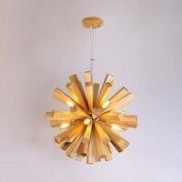 Nordic Dandelion solid wood Pendant Lights Wooden Birds Pendant Lamp hanglamp Living Room Dinning Room Restaurant light fixtures