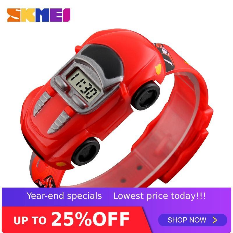 SKMEI Kids Watch Boys Creative Cartoon Children Watches Date Time Car Clock Colorful Suitable Montre Enfant Garcon Girl 1241