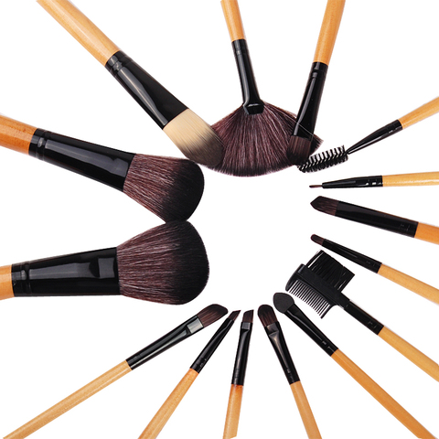 Biutee 10pcs/set Luxury Champagne makeup brushes set For Foundation Powder Blush Eyeshadow Concealer Lip Eye Make Up Brush Tools Karachi