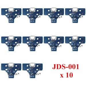 Image 4 - 10個jds 050 040 030 011 usb充電ポートソケットボードプレイステーション4 PS4 DS4プロスリムコントローラ充電器pcbボード