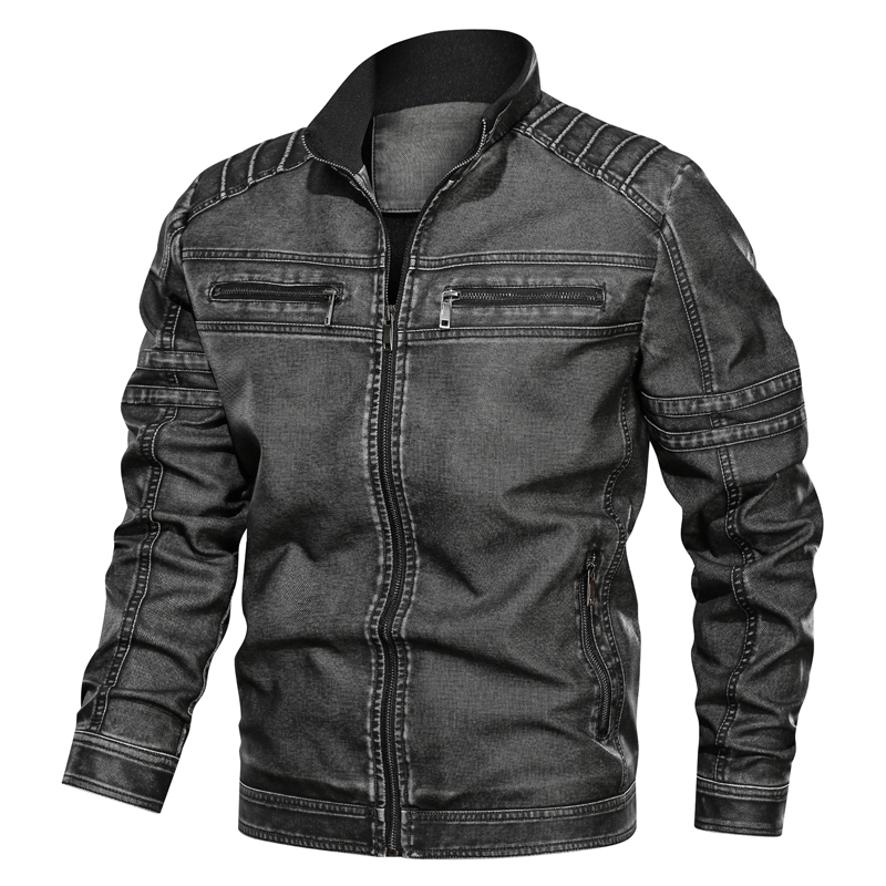 2019 New Winter Pilot Leather Bomber Jacket Men Military Autumn Leisure Flight Faux Jacket Male Coat Plus Size Hot Motorcycle PU