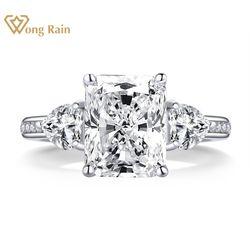 Wong Rain Vintage 925 Sterling Silver Created Moissanite Gemstone Wedding Engagement Diamonds Ring Gift Fine Jewelry Wholesale