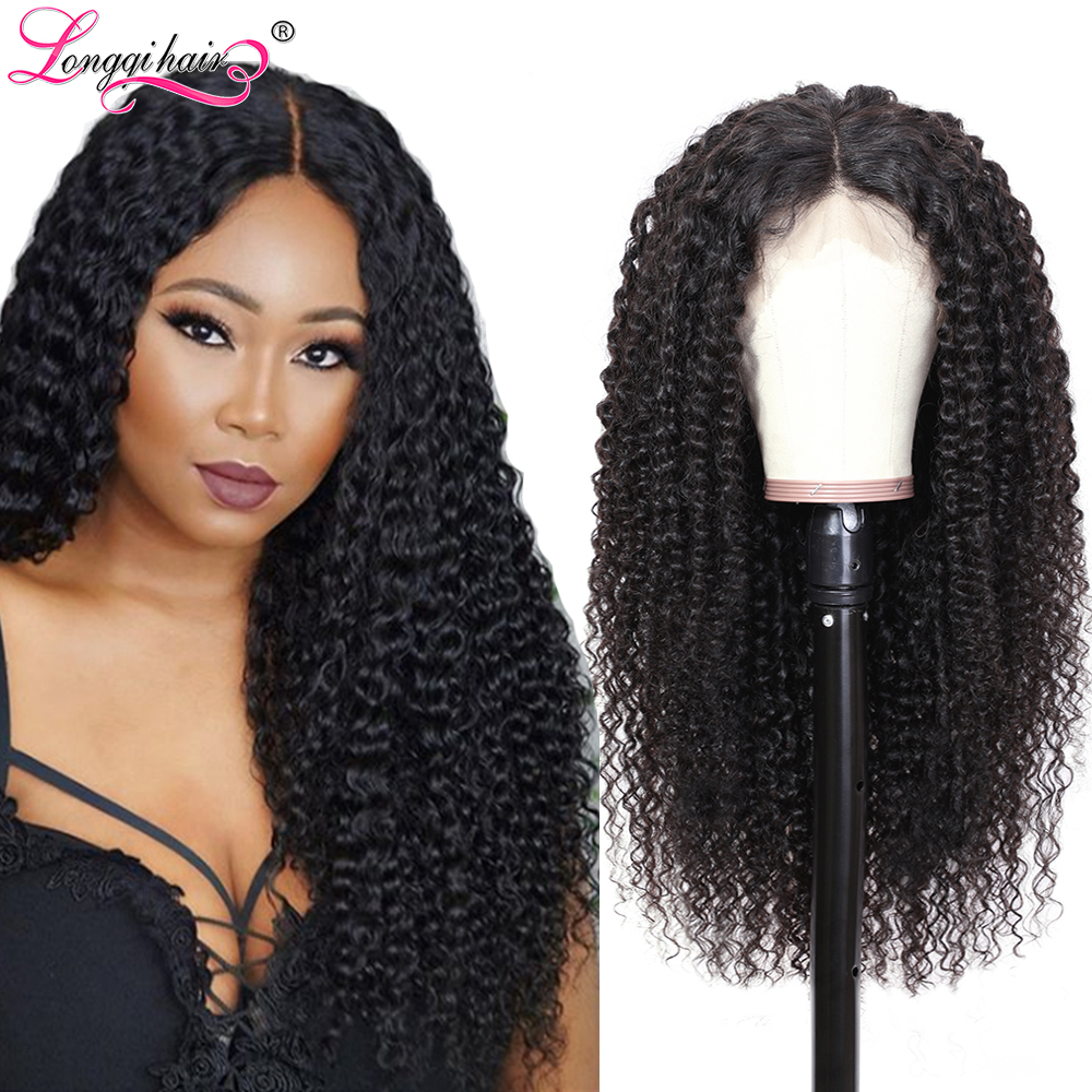 Hbf63e22fa52945ecb4f2d0368ce517f1Q Longqi Hair 13X4 13x6 Lace Front Human Hair Wigs Remy Brazilian Curly Human Hair Wigs Frontal Wig for Women 10 - 24 Inch