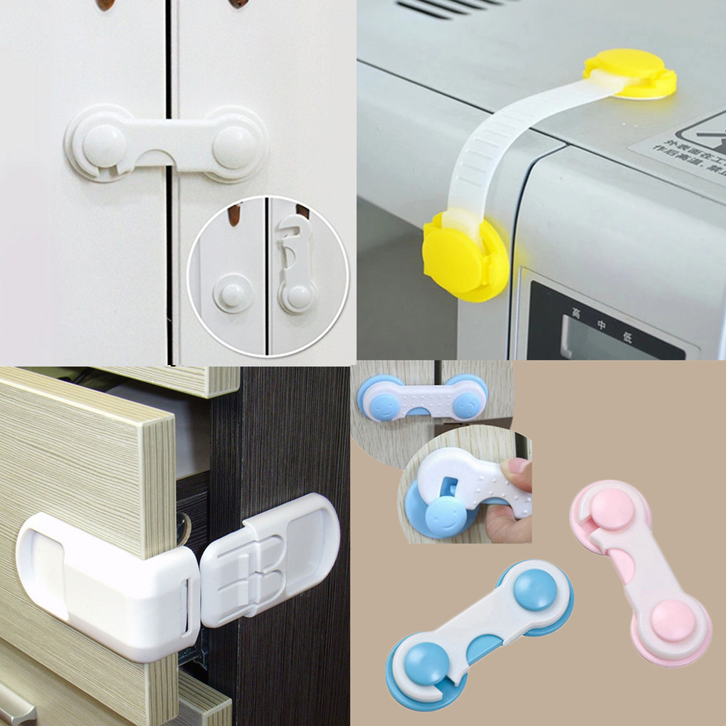 1PC/2PCS/4PC/5PC/10PCS Multifunction Baby Cabinet Locks Child Safety Lock Baby Drawer Lock Refrigerator Toilet Wardrobe Lock