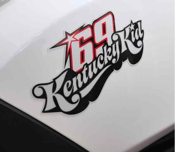 1pcs motorcyle corrida decalques superbike Nicky Hayden No. 69 adesivos reflexivos adesivos de carro-styling decalque motocross etiqueta para superbike