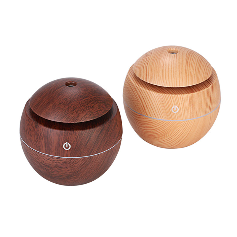 130ml USB Electric Aroma air diffuser wood Ultrasonic air humidifier Essential oil Aromatherapy cool mist maker for home spa